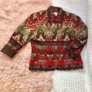 Red Aztec COLDWATER CREEK  blazer/jacket
